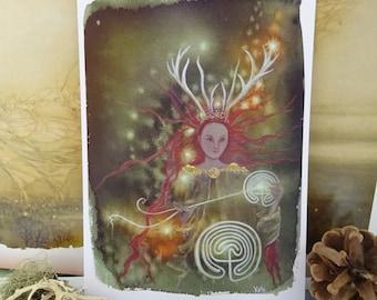 Pathe Weaver ~ Elen of the Ways Small Art Print