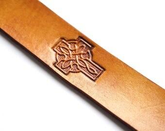 Leather Bookmark | Celtic Cross