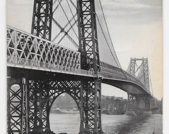Williamsburg Bridge, New York City Photo Postcard, 1910