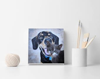 Custom Portrait Pet portrait Pet art Pet painting Custom dog  portrait Dog painting Pet painting Birthday gift Dog art Custom pet portrait