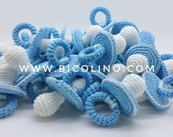 Lot 30 pacifiers crochet blue sky