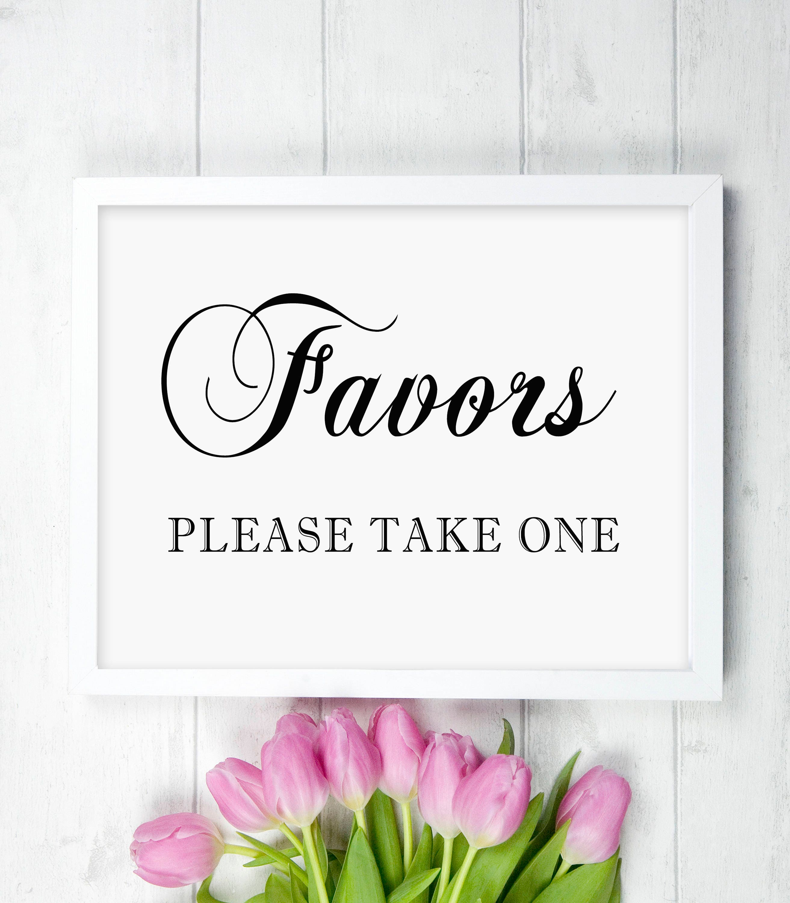 PRINTED 5 x 7 Favors Please Take One - Wedding Reception Bridal ...