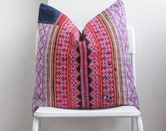 Blue Indigo Batik Hmong Pillow Cover