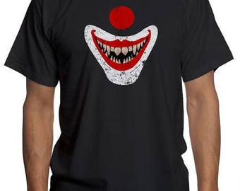 Pennywise IT Clown Evil Smile | IT Horror Scary Movie Floating Face Shirt | Stephen Kings IT the Dancing Clowns T Shirt | Killer Clown Tee