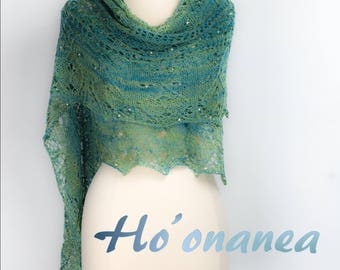 Around the Island Shawl Kit in your choice of size and color (formerly called Ho'onanea)