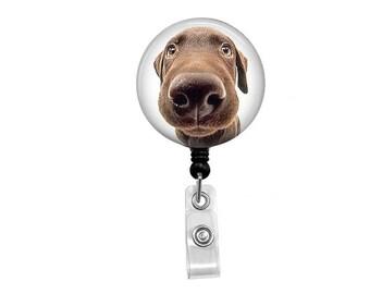 Retractable Badge Reel - Dog ID Badge - Badge Reels - Funny Dog Badge Reel - Funny Badge Reel - Dog Badge Reel - Funny Dog