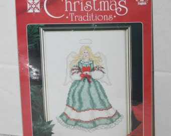 Designs For The Needle Christmas Traditions Angel With Heart Kit 1863