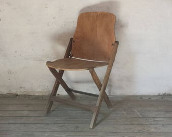 French Folding Chair, French Bistro Chair, Wooden Folding Chair, Industrial Chair, French Furniture, Rustic Wooden Chair, French Cafe Chair