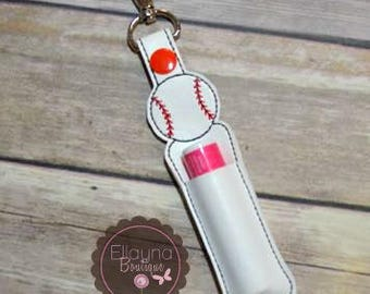Lip Balm, Chapstick, Flash Drive, USB Drive Holder - Baseball