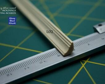 Corniche plinthe plancher Couronne moulage housse planche plinthe garniture pour 1/12 - échelle 1/6 diorama bricolage maison de poupée TYPE L02