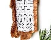 Mud Cloth Wall Hanging - Boho Wall Hanging - Wood Sign - Neutral Decor - Mud Cloth Nursery Decor - Modern Farmhouse - Boho Decor