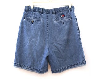 Vintage Tommy Hilfiger jean shorts 80s 90s  mens 33