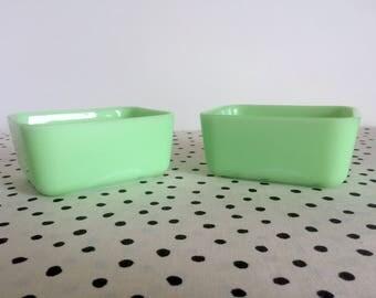 Vintage McKee Jadeite Refrigerator Dishes, McKee Jadite, Rectangular Refrigerator Containers, 1950s Jadeite Dishes, Rectangular Jadeite Dish
