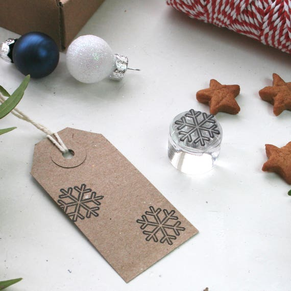 Snowflake Clear Rubber Stamp - Snowflake Stamp - Snowflake - Christmas Stamp - Little Stamp Store