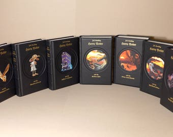 Harry Potter - J.K. Rowling - UK Collection 1-7 - leather-bound - annabuchwunder