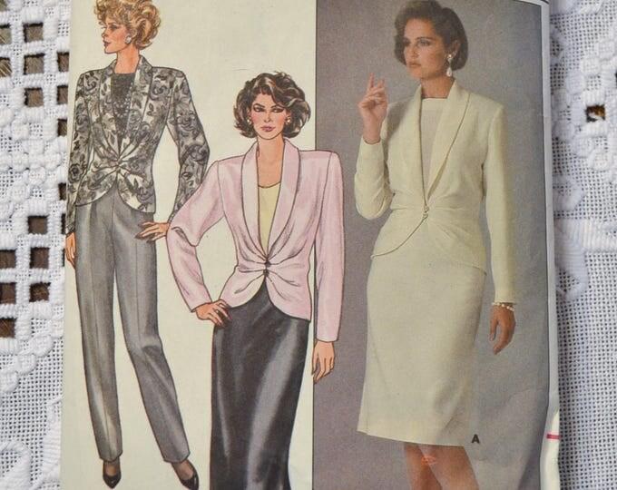 Butterick 3534 Sewing Pattern Misses Skirt Pants Jacket Size 12 14 16 DIY Vintage Clothing Fashion Sewing Crafts PanchosPorch