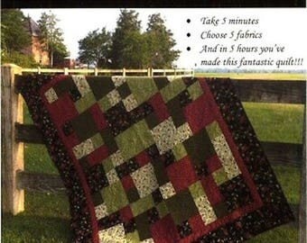 Take 5 Quilt Pattern by Dierdra Brown for the Teachers Pet - Super EASY Beginner Pattern - 5 Sizes from Child to King Sized - TP-200 (W3917)