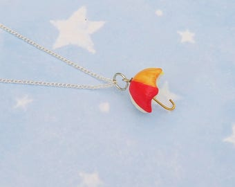 Rainbow Umbrella Necklace