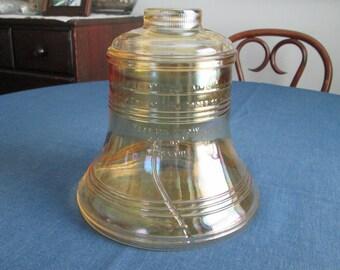 Vintage 1976 Liberty Bell Bicentennial Glass Cookie Jar 70s