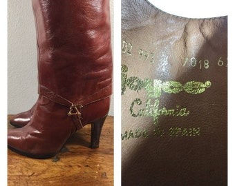 Joycee, Made in Italy, Brown Leather Boots, Converts to Ankle Boots, Size 6.5