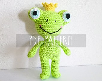 PDF PATTERN - EN - Crochet pattern for amigurumi - Todd The Frog