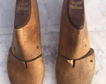 Vintage Scott McHale Men's Wood Shoe Lasts or Forms