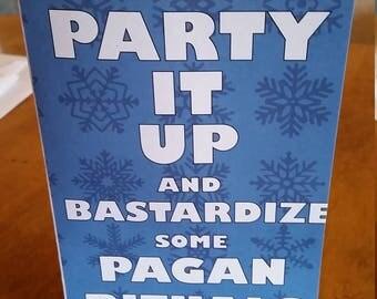 Pagan Rituals 5x7 Holiday Card