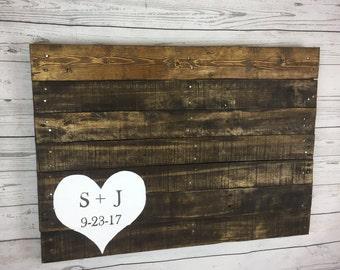 Wood pallet wedding Guest book Alternative sign, wood wedding decor, up-cycled pallet handmade event Guest book, cute pallet wedding sign