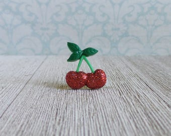 Cherry - Cherries - Fruit - Summer - Cherry Festival - Red - Lapel Pin