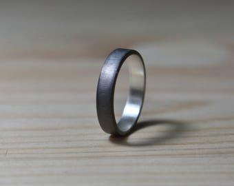 Womens Black Wedding Band. Womens Black Rings. Womens Wedding Band Black. Rings Black Women. Unisex Black Rhodium Plated Ring. Womens Rings
