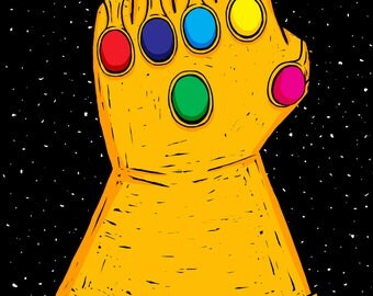 MARVEL Avengers Infinity Wars Poster - Thanos Infinity Gauntlet