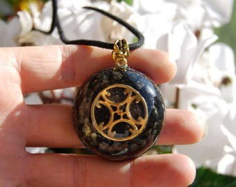 Orgonite® Pendant Orgone Necklace with Shungite and Gold Pyrite Unisex