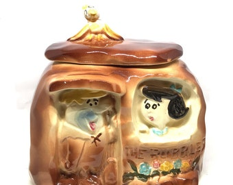 American Bisque Flintstones The Rubbles Cookie Jar, 1960's, Collections, Hanna Barbera