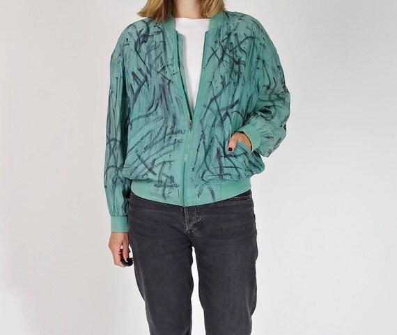 90s Painter silk bomber jacket / size S/M
