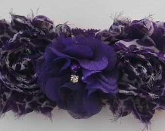 Purple Rhinestone and Pearl Headband