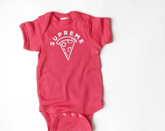 Supreme Pizza baby shirt!  Cute infant tee!