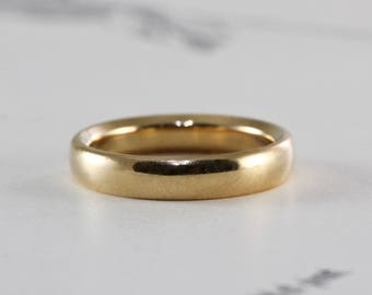 Antique 18k Wedding Band, Luxe Yellow Gold Stacking Ring