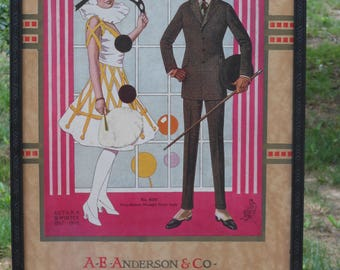 A.E. Anderson Chicago Art Deco-Style Framed Poster
