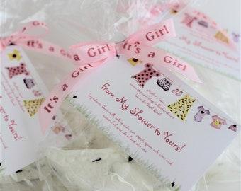20 Custom It's A Girl Bath Bomb Baby Shower Favors / Bath Bomb Favors / Bath Bombs Bulk / Baby Girl Favors / Pink Favors / Dye Free