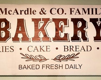 Personalized Bakery Sign
