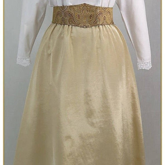 Victorian Costumes: Dresses, Saloon Girls, Southern Belle, Witch Ivory Bengaline Victorian SkirtIvory Bengaline Victorian Skirt $49.00 AT vintagedancer.com