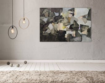 Original Large Painting Abstract, Large Art, Original Oil Painting, 40x60, Contemporary Painting Abstract, Modern Wall Art, Brown Abstract