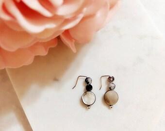Sweet Encounter Collection | Handmade Structure Wire Earrings, Beads Earrings, Boho Earrings, Sister Earrings, Gift for her