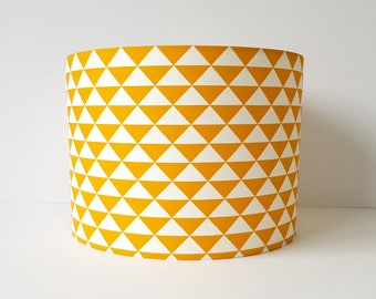 Lamp shades etsy uk yellow geometric lampshade mustard lamp shade mustard yellow decor retro lamp shades aloadofball Gallery
