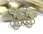 Celtic Cross Earrings | Celtic Knot | 925 Sterling Silver Lever Back Earrings | Celtic Jewelry | Celtic Earrings | Chinese Knot Earrings