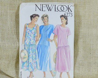Uncut New Look pattern 6273 // vintage dress // loose fitting dress