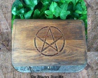 Witches Altar Kit, Wiccan Altar Kit, Wiccan Altar Set, Wiccan Starter Kit, Travel Altar Box, Altar Kit, Mini Altar, Witch Altar Kit