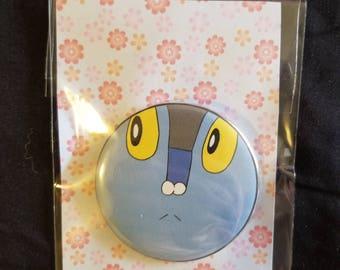 "Pokemon Froakie inspired 2.25"" button"
