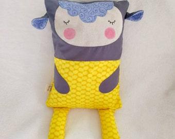 Lamb / sheep Cuddle Buddy - Baby pillow / cushion - Toddler pillow / cushion - cute animal