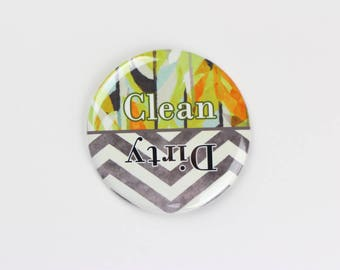 "3.5"" dishwasher magnet,magnet, clean / dirty dishwasher magnet,art pattern magnet,chevron pattern,kitchen gift"